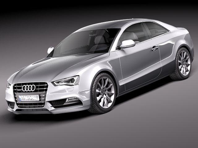 Audi A5 Coupe 2012 Sedan Car Vehicles 3d Models
