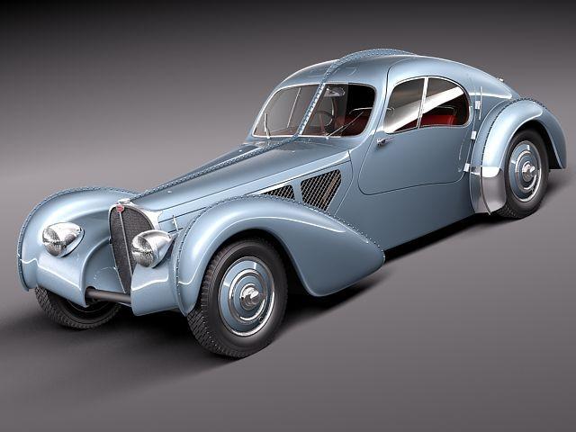 bugatti type 57 atlantic oldtimer car vehicles 3d models. Black Bedroom Furniture Sets. Home Design Ideas