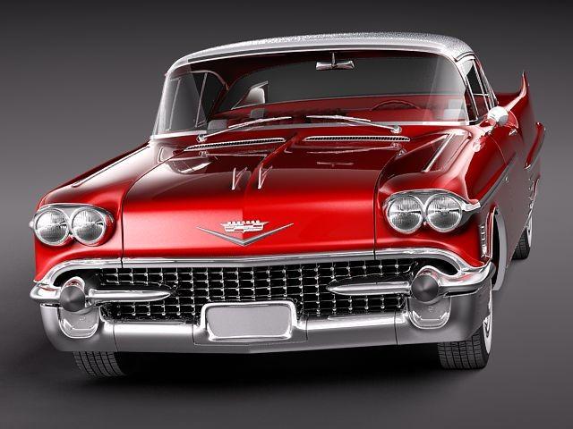 Cadillac Deville Coupe 1958 Oldtimer Car Vehicles 3D Models
