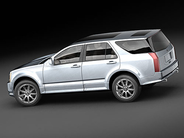 Cadillac Srx Suv Offroad Car Vehicles 3d Models