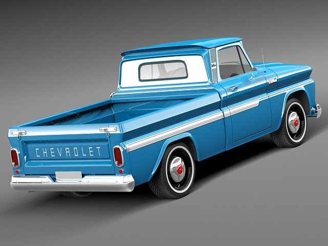 Chevrolet C10 1965 Pickup Pickup Car Vehicles 3D Models