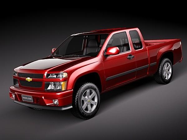 chevrolet colorado 2004 2010 extended cab pickup car vehicles 3d models. Black Bedroom Furniture Sets. Home Design Ideas