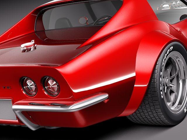 Chevrolet Corvette C3 1969 Pro Touring Racing Car Vehicles