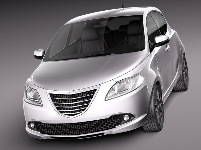 Chrysler Ypsilon 2012 Sedan Car Vehicles 3d Models