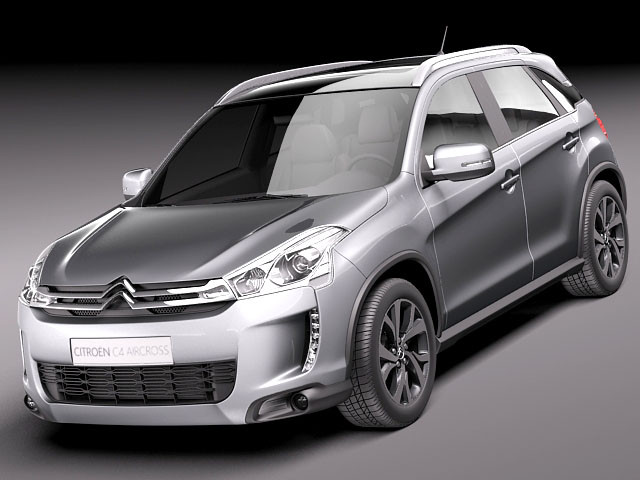 citroen c4 aircross 2013 suv offroad car vehicles 3d models. Black Bedroom Furniture Sets. Home Design Ideas