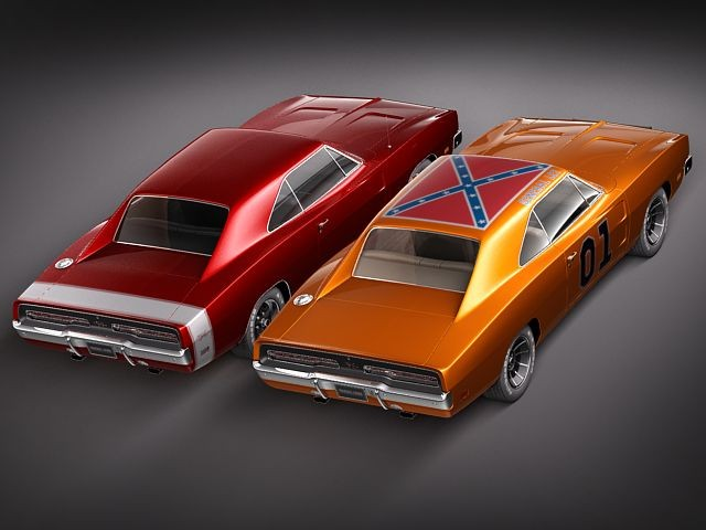 Military Vehicles For Sale >> Dodge Charger 1969 RT - General Lee Sedan Car Vehicles 3D ...