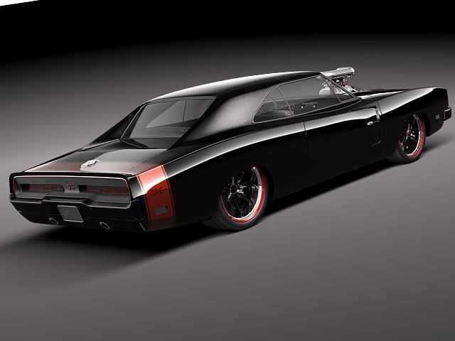 Dodge Charger 1969 custom Oldtimer Car Vehicles 3D Models