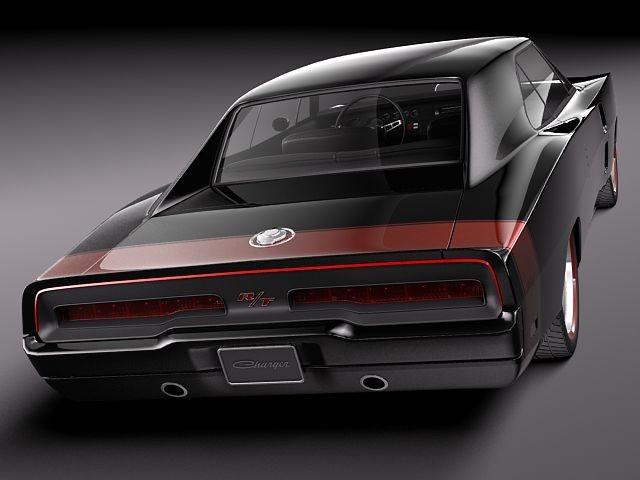 Dodge Charger 1969 Custom Oldtimer Car Vehicles 3d Models