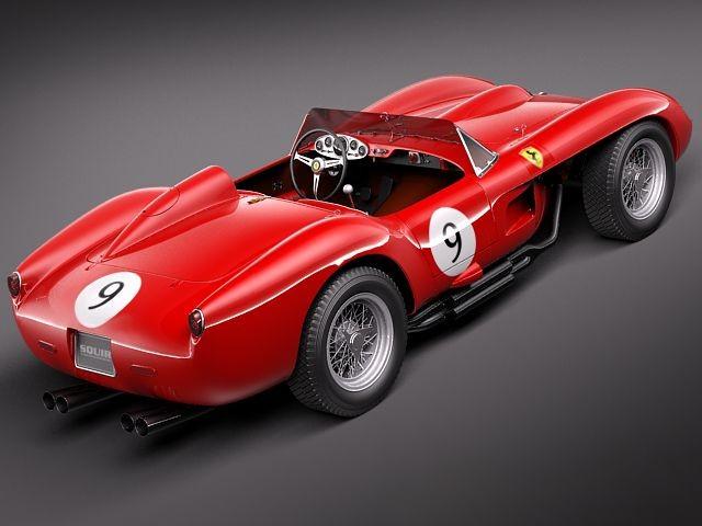 ferrari 250 testa rossa 1957 racing car vehicles 3d models. Black Bedroom Furniture Sets. Home Design Ideas