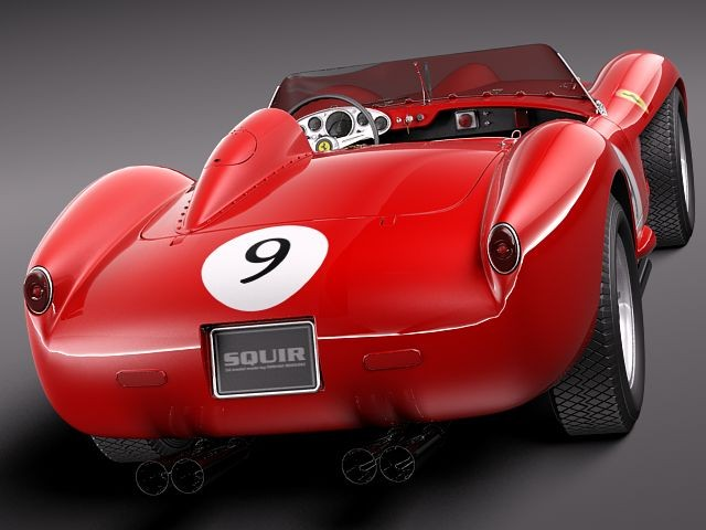 Military Vehicles For Sale >> Ferrari 250 Testa Rossa 1957 Racing Car Vehicles 3D Models