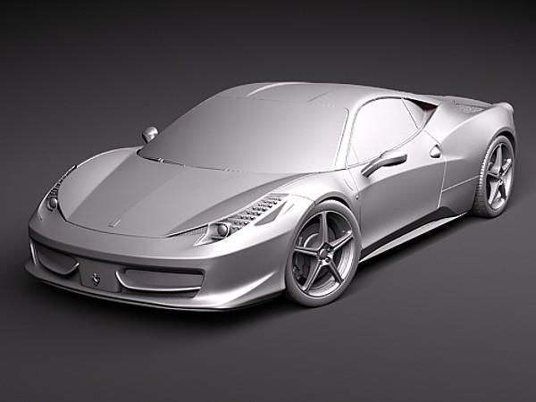 Military Vehicles For Sale >> Ferrari 458 italia Car Vehicles 3D Models