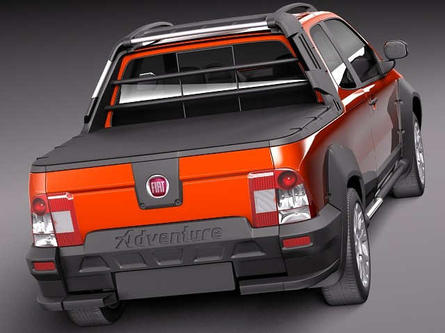 fiat strada adventure 2013 pickup car vehicles 3d models. Black Bedroom Furniture Sets. Home Design Ideas