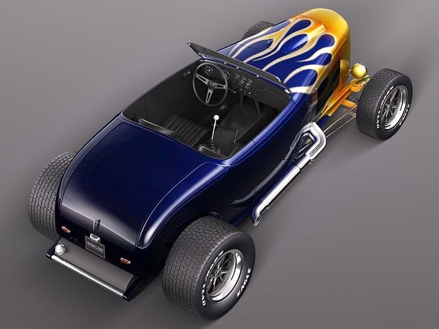 Military Vehicles For Sale >> Ford 32 Hot Rod Flame Custom Oldtimer Car Vehicles 3D Models