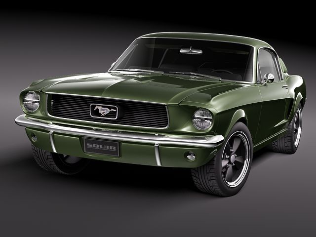 Fastback Mustang For Sale >> Ford Mustang 1967 Bullit Car Vehicles 3D Models