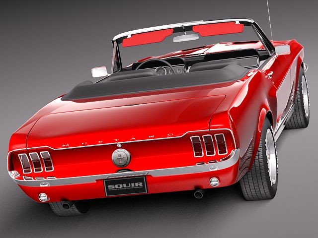 Free Car Advertising >> Ford Mustang 1967 convertible Oldtimer Car Vehicles 3D Models
