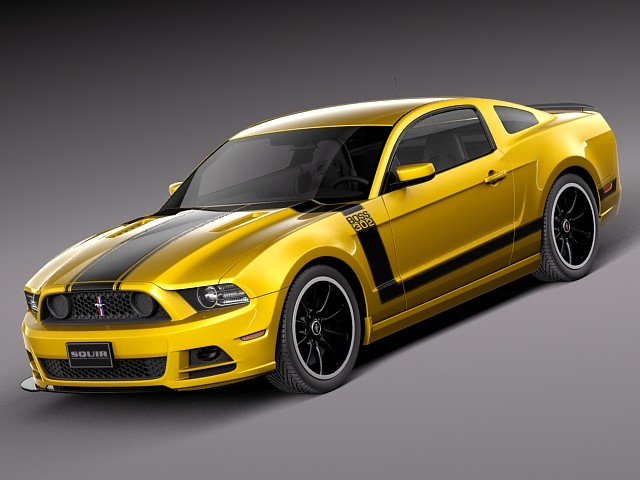 Ford Mustang Boss 302 2013 1 Car Vehicles 3d Models