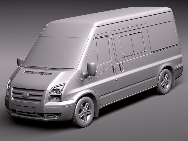 Ford Transit Van >> Ford Transit Passenger Van High 2010 Van Heavy Vehicle Vehicles 3D Models