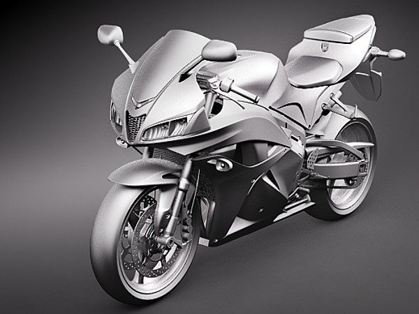 Honda CBR 600RR Sport Motorcycle Vehicles 3D Models