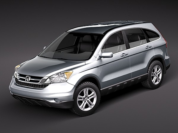 Honda CR V SUV Offroad Car Vehicles 3D Models