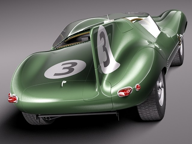 Jaguar D-Type Longnose 1954 Oldtimer Car Vehicles 3D Models