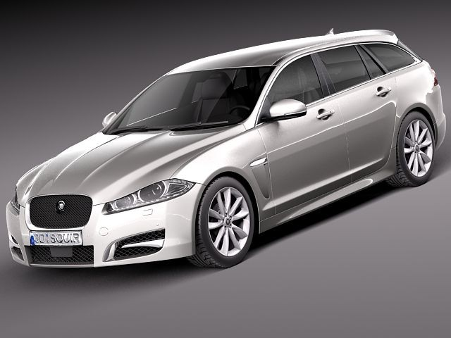 jaguar xf sportbrake 2013 sedan car vehicles 3d models. Black Bedroom Furniture Sets. Home Design Ideas