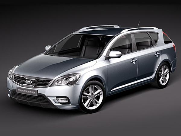 kia ceed sw sedan car vehicles 3d models. Black Bedroom Furniture Sets. Home Design Ideas