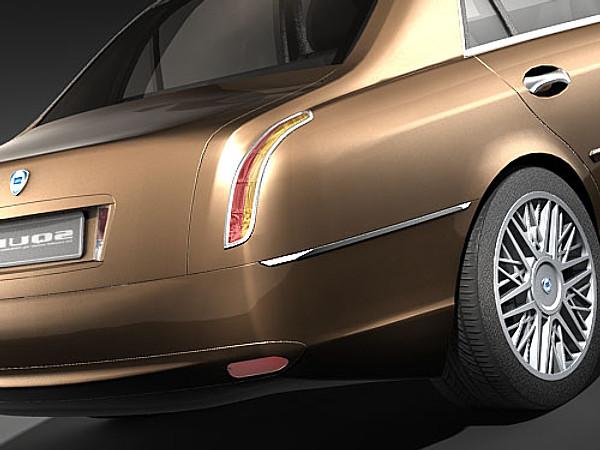 Lancia Thesis 2004-2008 Sedan Car Vehicles 3D Models