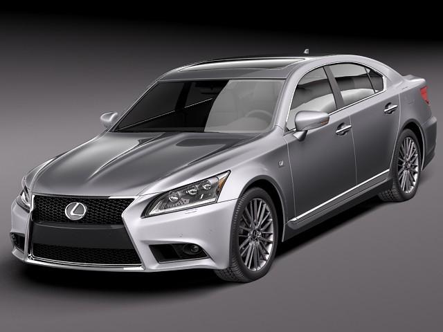 lexus ls 460 f sport 2013 sedan car vehicles 3d models. Black Bedroom Furniture Sets. Home Design Ideas