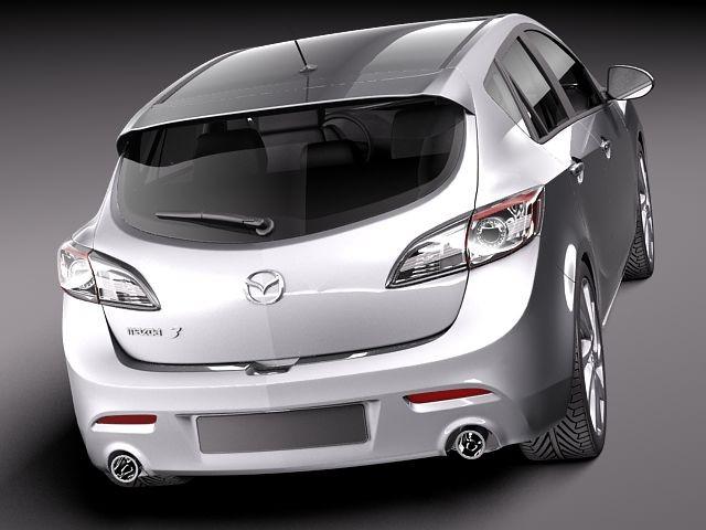 Mazda 3 hatchback 2012 Sedan Car Vehicles 3D Models