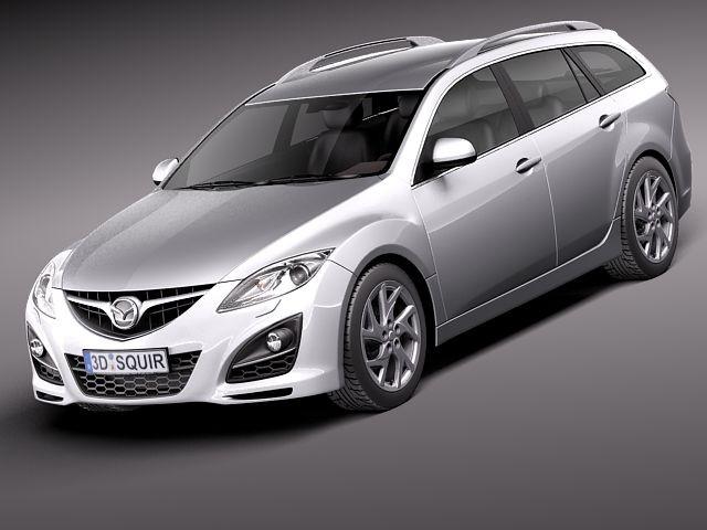 Mazda 6 wagon 2011 Sedan Car Vehicles 3D Models