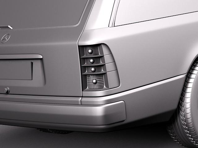 mercedes benz e class w124 kombi luxury car vehicles 3d models. Black Bedroom Furniture Sets. Home Design Ideas