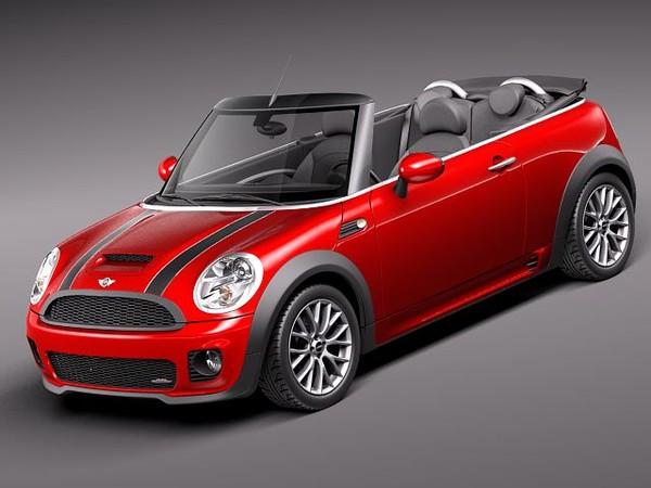 Mini John Cooper Works Convertible 2012 Sedan Car Vehicles 3d Models