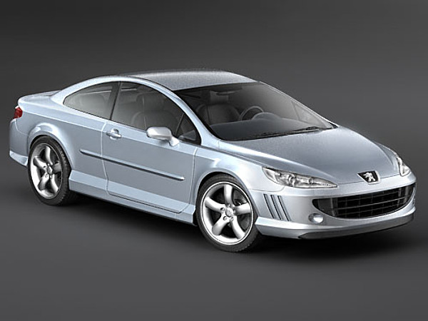 peugeot 407 coupe sedan car vehicles 3d models. Black Bedroom Furniture Sets. Home Design Ideas