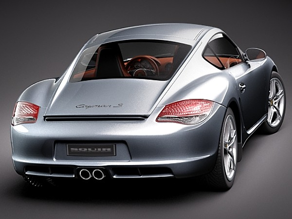 Porsche Cayman S 2011 Car Vehicles 3D Models