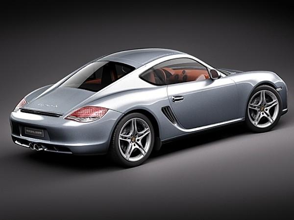Porsche Cayman S 2011 Car Vehicles 3D Models