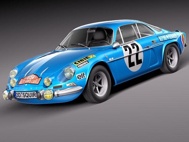 renault alpine a110 rallye 1963 1974 oldtimer car vehicles 3d models. Black Bedroom Furniture Sets. Home Design Ideas