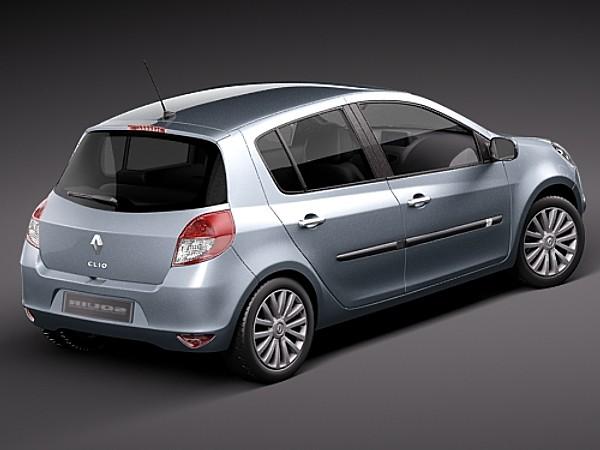 Military Vehicles For Sale >> Renault Clio 2010 5door Sedan Car Vehicles 3D Models