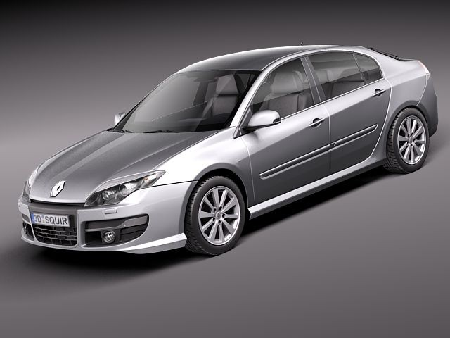Renault Laguna Sedan 2011 Sedan Car Vehicles 3d Models