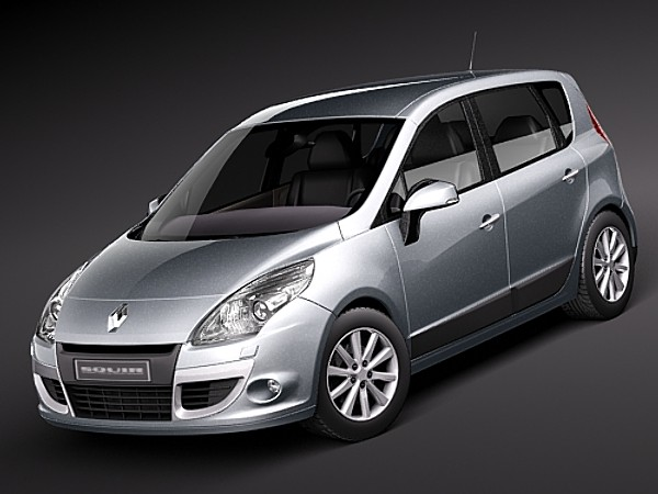 renault scenic 2010 sedan car vehicles 3d models. Black Bedroom Furniture Sets. Home Design Ideas