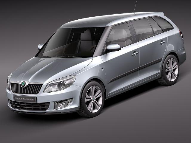 Skoda Fabia Combi 2011 Sedan Car Vehicles 3d Models