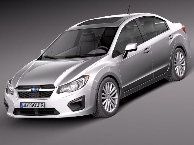 Subaru Impreza 2013 Sedan Sedan Car Vehicles 3d Models