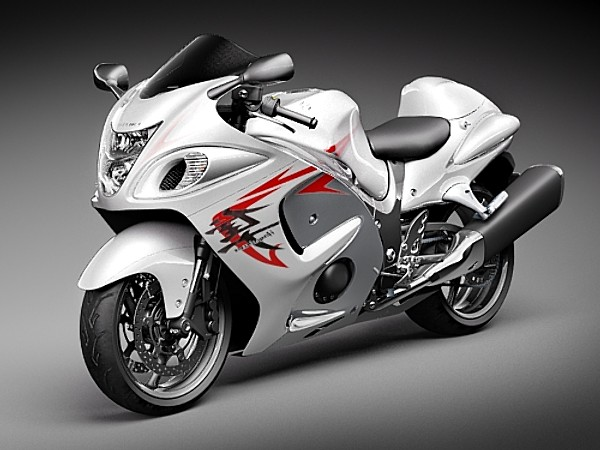 Suzuki Hayabusa Sport Motorcycle Vehicles 3D Models