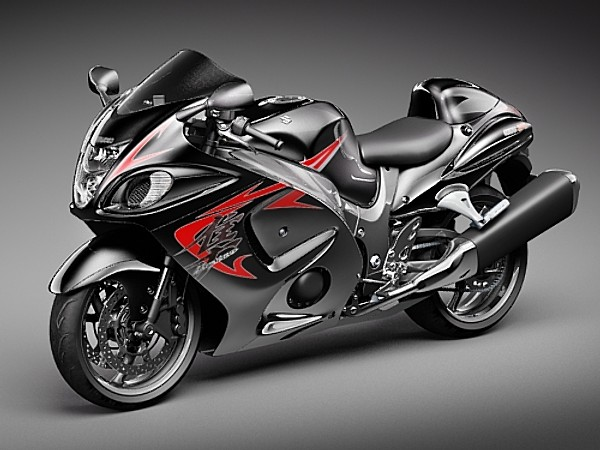 How To Sell A Motorcycle >> Suzuki Hayabusa Sport Motorcycle Vehicles 3D Models