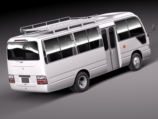 Military Vehicles For Sale >> Toyota Coaster 2012 MINIBUS Bus Heavy Vehicle Vehicles 3D ...
