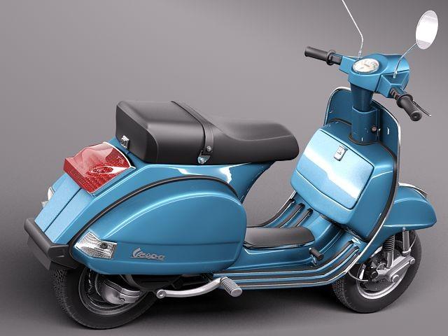 Vespa Px 150 2011 Antique Motorcycle Vehicles 3d Models