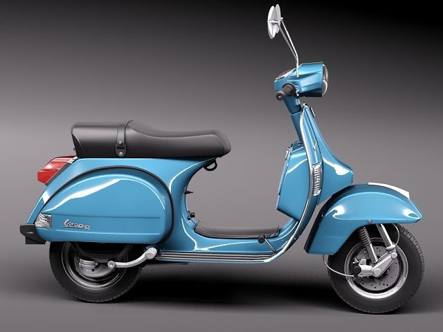 vespa px 150 2011 antique motorcycle vehicles 3d models. Black Bedroom Furniture Sets. Home Design Ideas