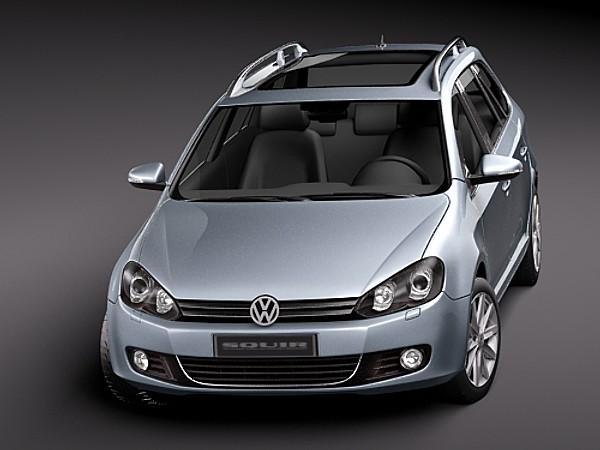 volkswagen jetta wagon golf variant 6 vi sedan car vehicles 3d models. Black Bedroom Furniture Sets. Home Design Ideas