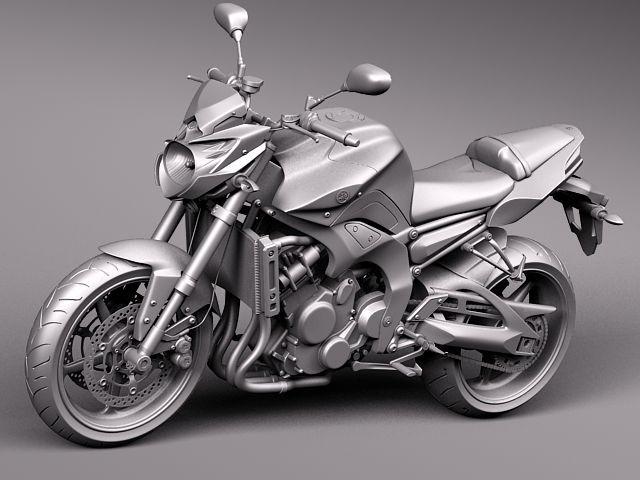 yamaha fz8 fazer 2011 sport motorcycle vehicles 3d models. Black Bedroom Furniture Sets. Home Design Ideas