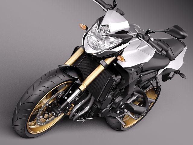 Yamaha FZ8 Fazer 2011 Sport Motorcycle Vehicles 3D Models