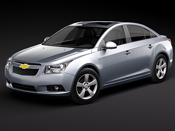 chevrolet cruze cobalt sedan chevy 2008 2009 2010 2011 sedan usa midpoly mid poly 3d models. Black Bedroom Furniture Sets. Home Design Ideas